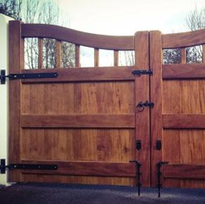 Dark-brown-driveway-gate