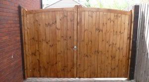 standard wooden double gate
