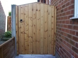 wooden high pointed gate