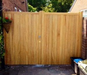 double wooden garden gate