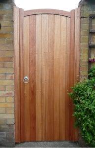 treated wooden garden gate