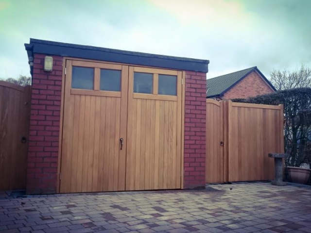 Hardwood Garage Doors and Lymm Style Side Gates
