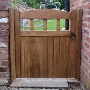 Hardwood-side-garden-gate