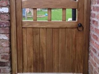 Hardwood Garden Gate in Lancashire Design