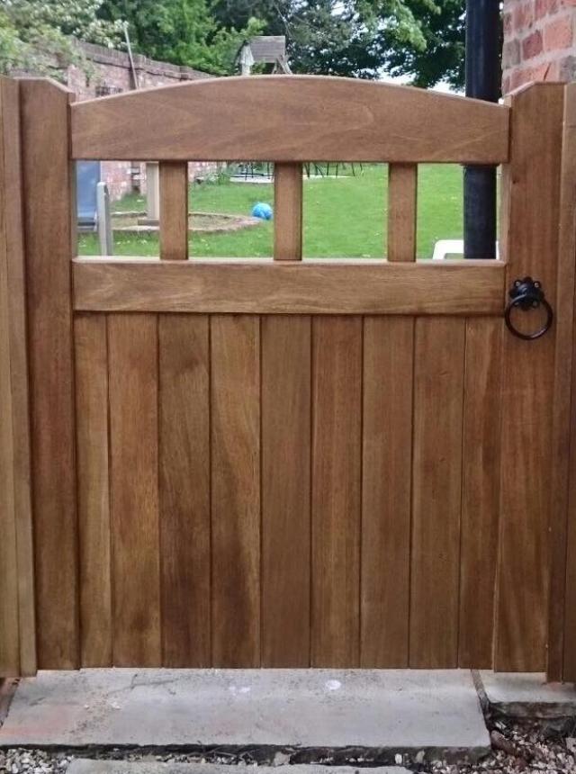 Low Lancashire Design Garden Hardwood Gate