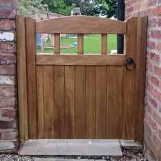 Idigbo Hardwood Garden Gate in Lancashire Design