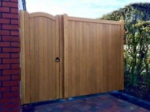 Hardwood Garden Gate with matching panel - Lymm design