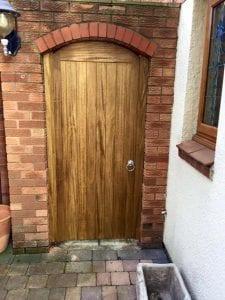 Hardwood Side Gate in Medium Oak - Appleton design