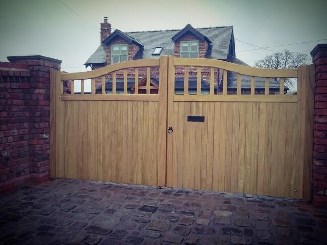 Chester Design Idigbo Hardwood Driveway Gates