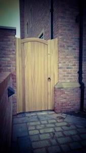 Iroko Hardwood Side Gate - Lymm Design