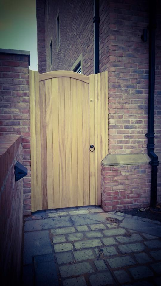 Lymm Design Iroko Hardwood Side Gate