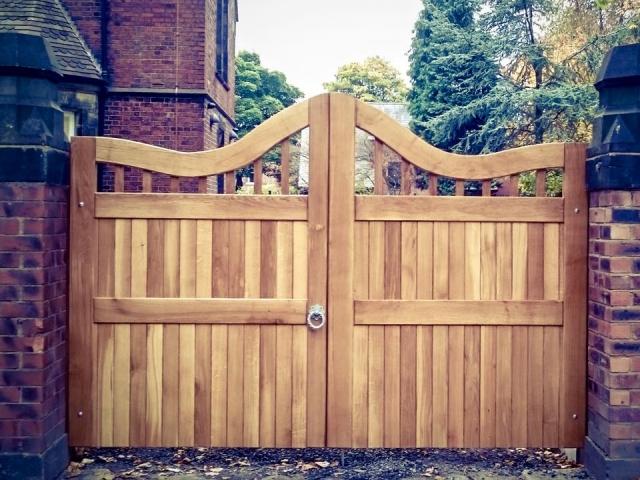 Bespoke Oak Driveway Gates