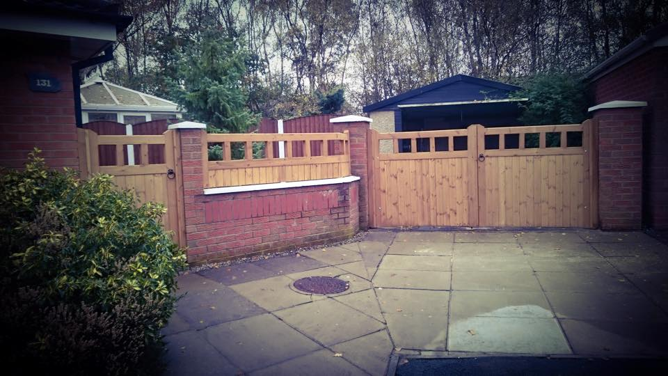 Softwood Driveway Gates and Side Gates Cheshire Design