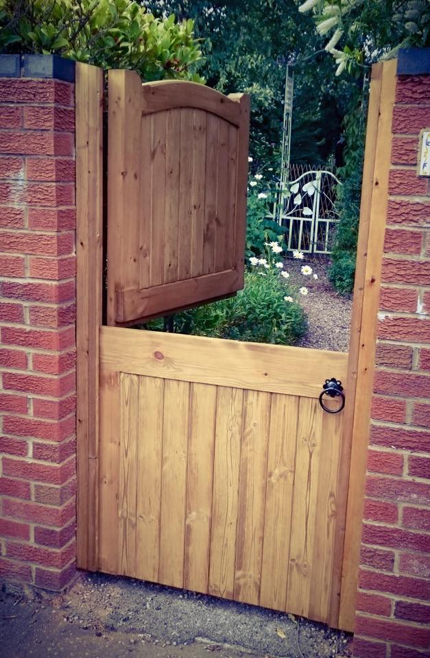 Softwood halved Side Gate - Lymm design