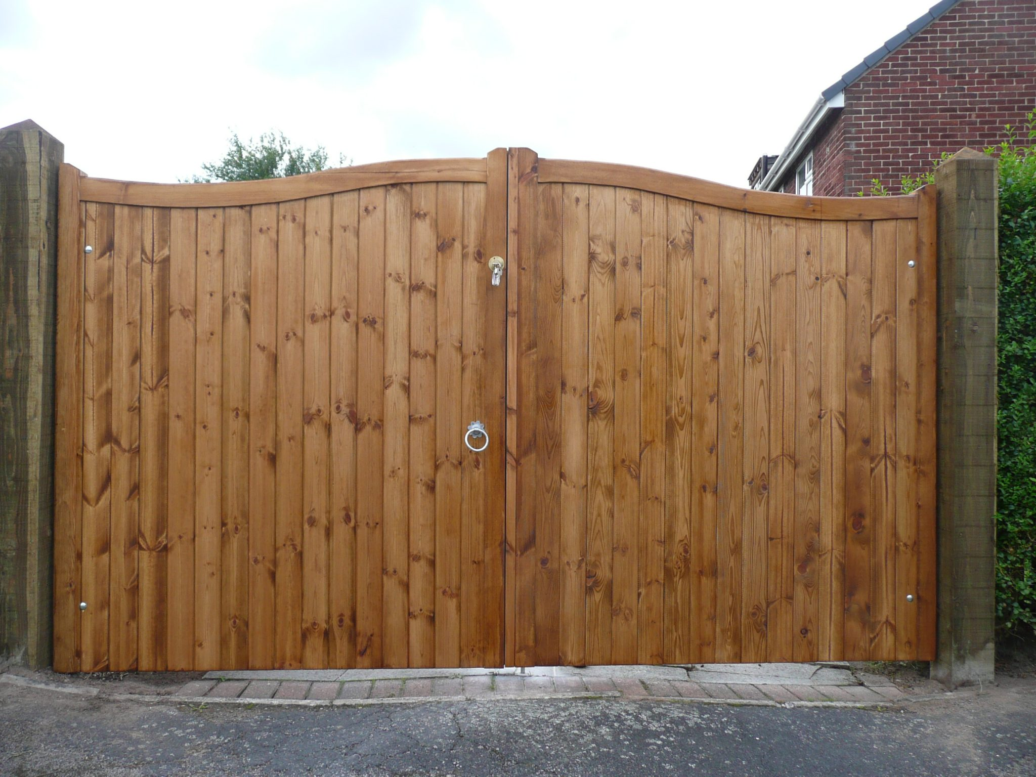 double wooden gates treated