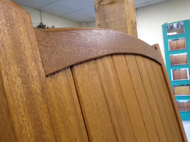 round headed wooden gate