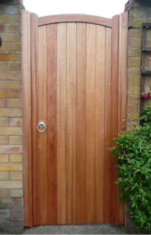 treated wooden gate