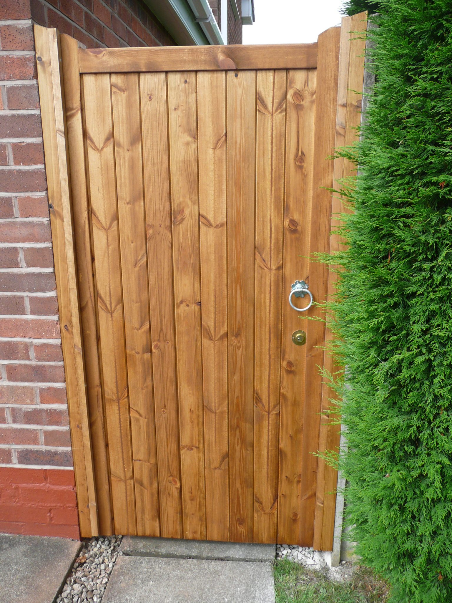 wooden side gate treated