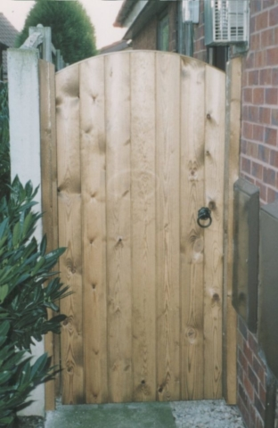 wooden untreated side gate