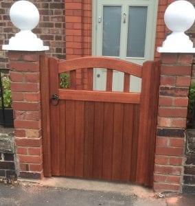 Meranti hardwood tarporley design mahogany garden gate