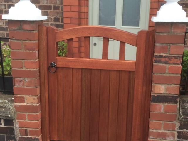 Hardwood tarporley design mahogany garden gate