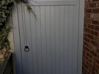 Village design gate in grey finish