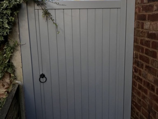Village design gate in grey finish