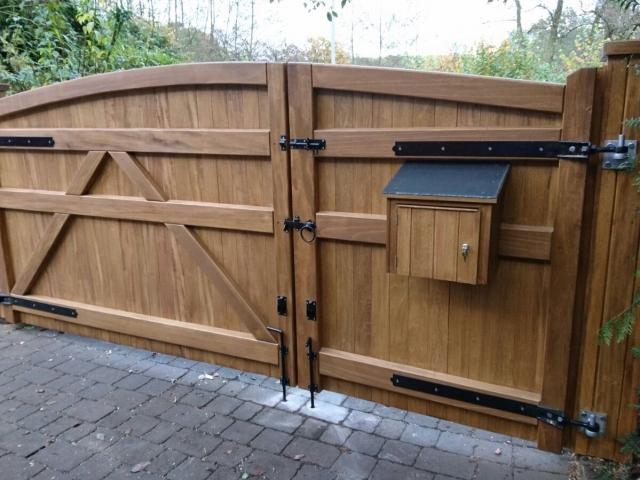 Idigbo Hardwood Lymm Design Driveway Gates