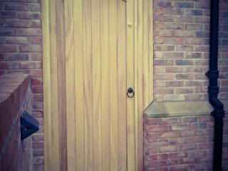 Iroko Hardwood Side Gate - Lymm Design