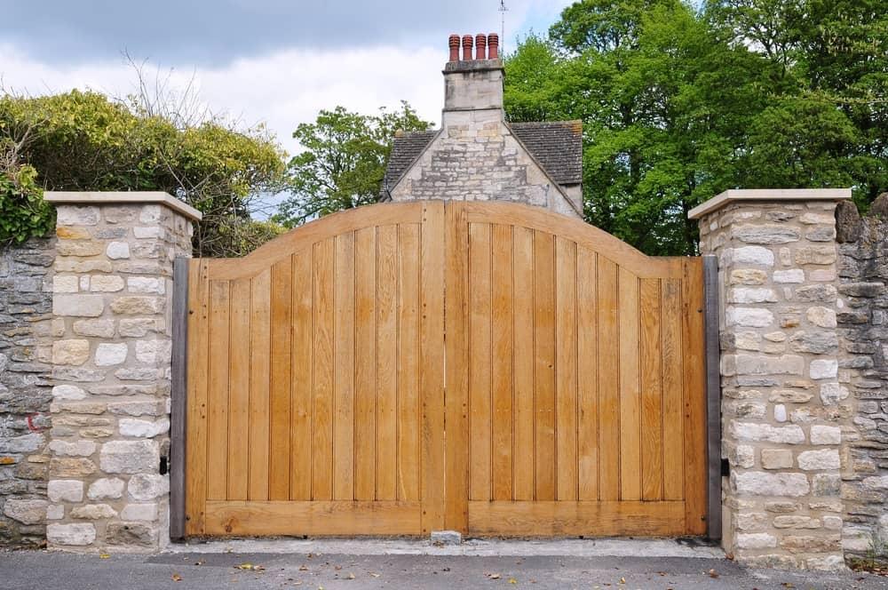 handmade wooden gates