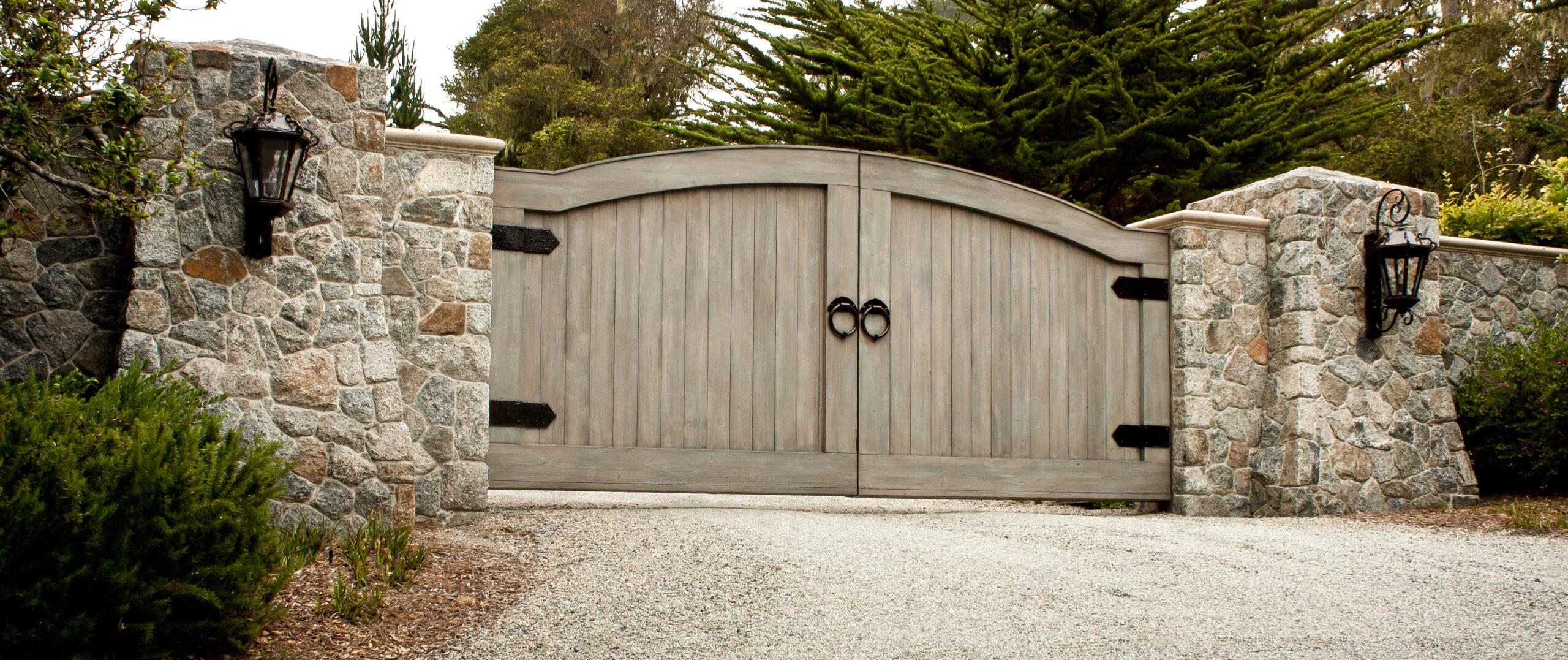cream coloured gate